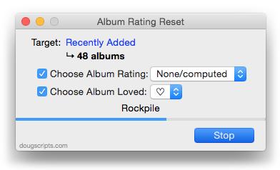 Album Rating Reset