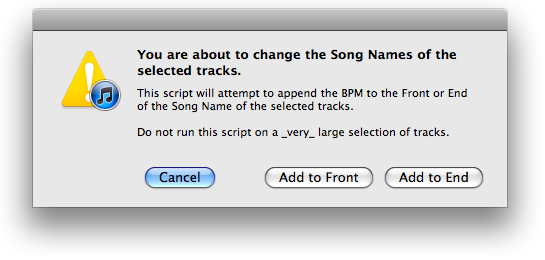 Append BPM to Song Name
