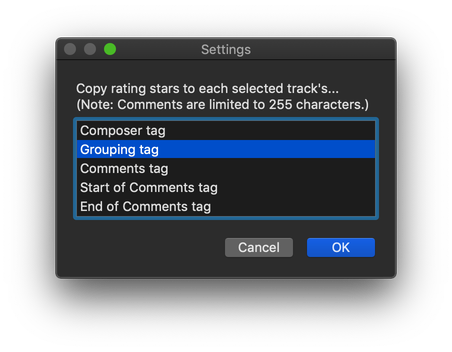 Copy Rating Stars to Other Tag in action