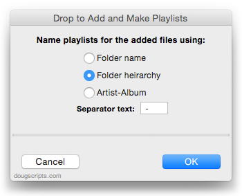 Drop to Add and Make Playlists in action