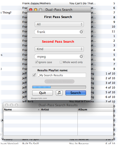 Dual-Pass Search in action