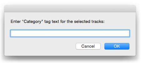 Enter Category Text for Selected in action