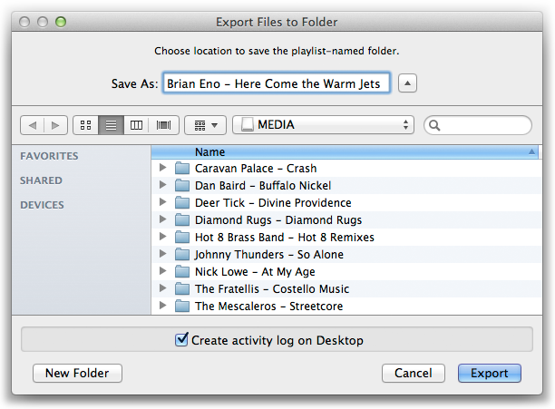 Export Files to Folder