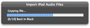 Import iPod Audio Files screenshot