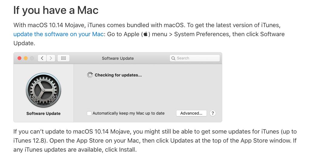 Doug's AppleScripts Mojave Update Updates iTunes » Doug's