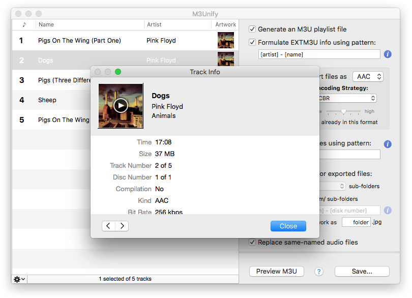 Doug's Apps for iTunes » M3Unify Online Help » Official