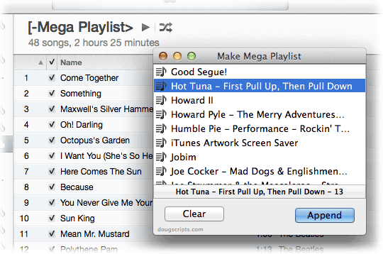Make Mega Playlist