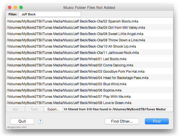Music Folder Files Not Added