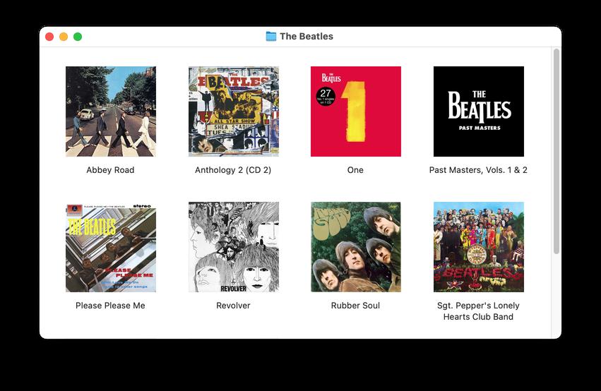 Artwork as Album Folder Icon