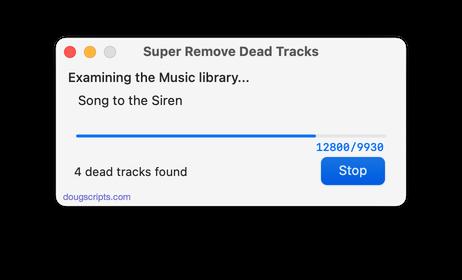 Super Remove Dead Tracks in action