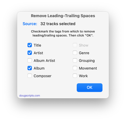 Remove Leading-Trailing Spaces in action