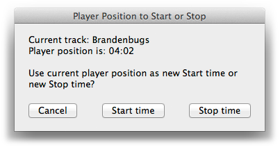 Player Position to Start or Stop screenshot