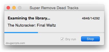 Super Remove Dead Tracks in action