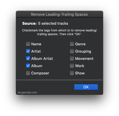 Remove Leading-Trailing Spaces