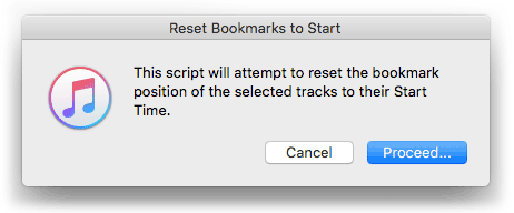 Reset Bookmarks to Start