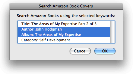 Search Amazon Book Covers in action