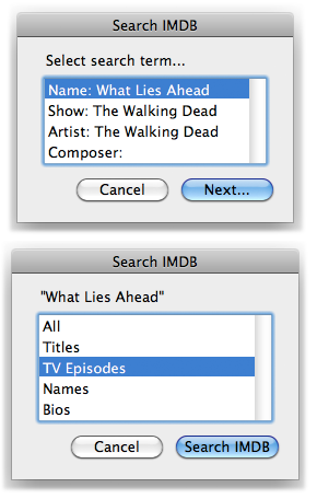 Search IMDB in action