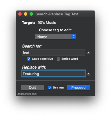Search-Replace Tag Text