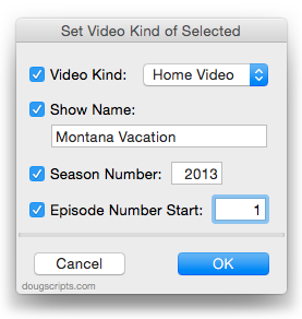 Set Video Kind of Selected