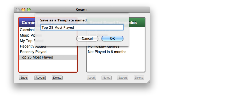 Doug's Apps for iTunes » Smarts - Smart Playlists Manager » Official