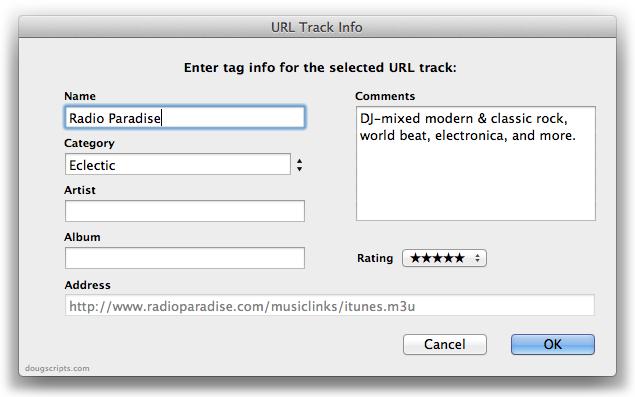 URL Track Info
